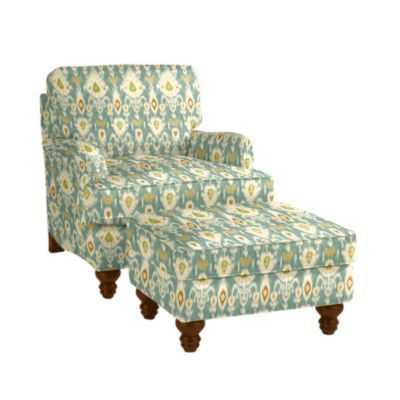 Eton Club Chair Ottoman Balboa Ikat 1459 00 Have A Seat