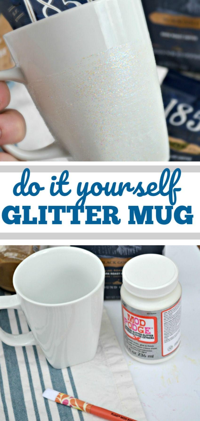 DIY Glitter Mug | Mother\'s Day | Pinterest | DIY, Mugs and Glitter