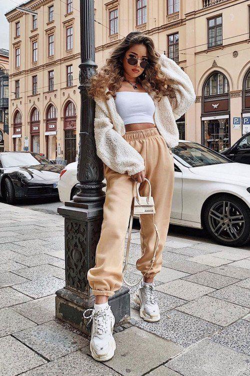 Outfits otoñales para las amantes de los pants – fashion-style