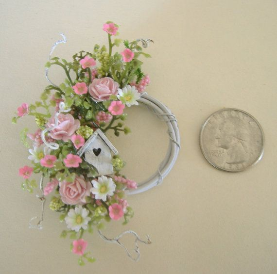 Dollhouse Miniature Pink Rose Daisy and por DEVINEMINIATURESSHOP