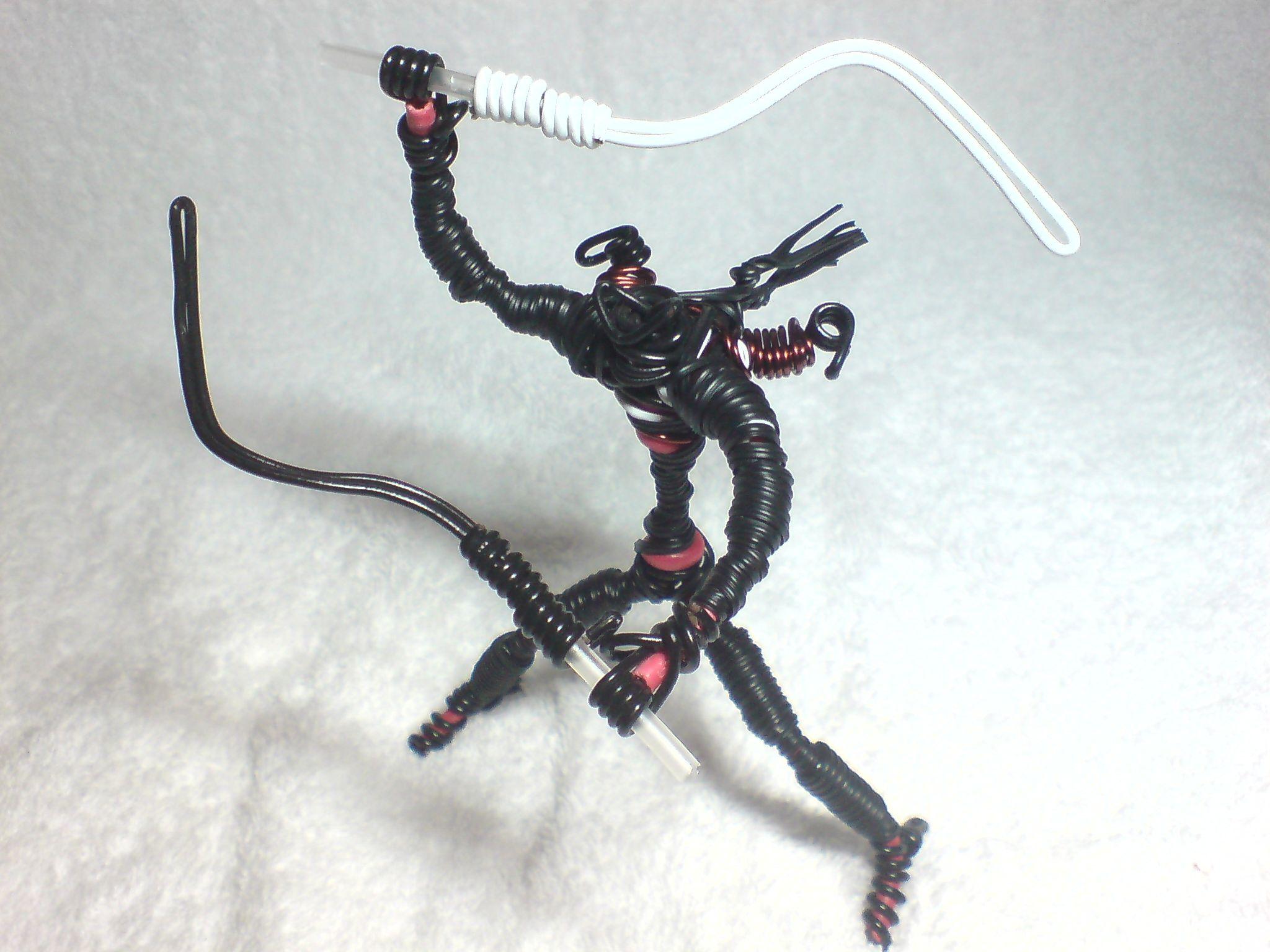 Ninja\' | medium: electrical wire (base). Paper Clips, BlackTwist Tie ...