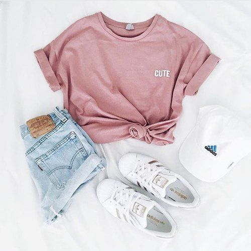 fashion, outfit, and adidas image | Cute summer outfits
