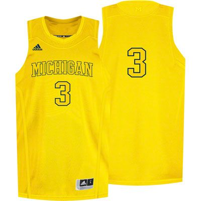 brand new 599dc ee082 Michigan Wolverines Gold Bleed Out Basketball Jersey. Love ...