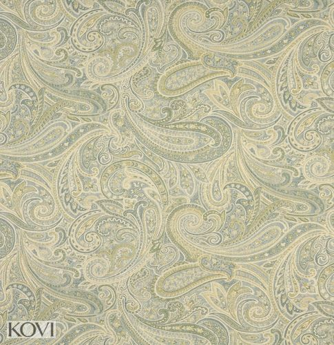 Chambray Blue Light And Green Light Abstract Damask Upholstery