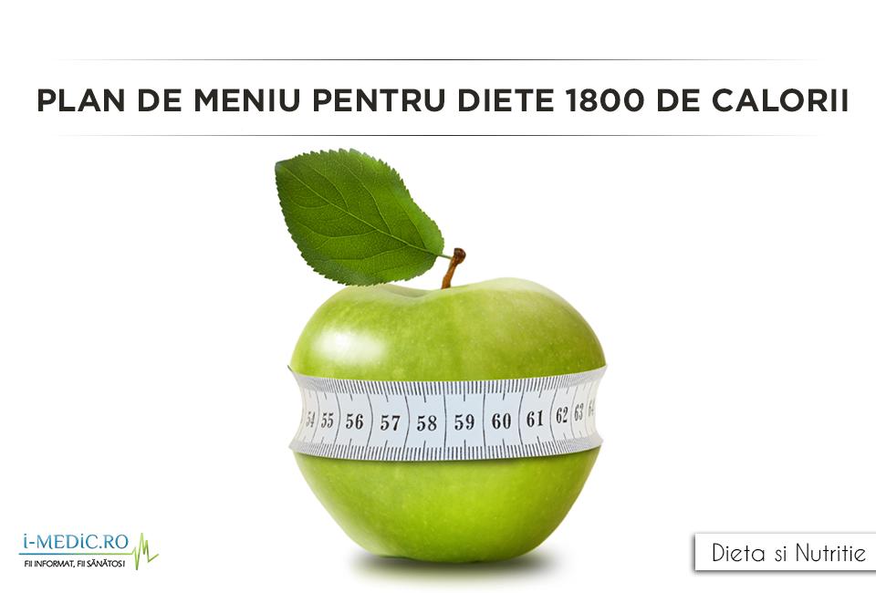 Regimul de 1800 de calorii