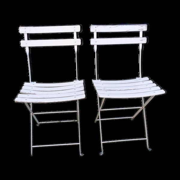 Paire Chaises Pliantes En 2020 Chaise Pliante Chaise De Jardin Chaise Pliante Bois