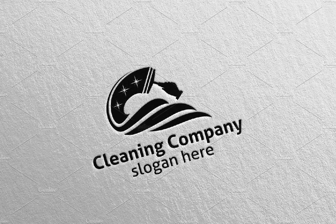 Cleaning Services Vector Logo Design , Ad, vectorAi