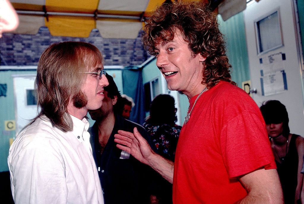 Tom Petty And Robert Plant During Live Aid Concert July 13 1985 At Tom Petty Robert Plant Concert