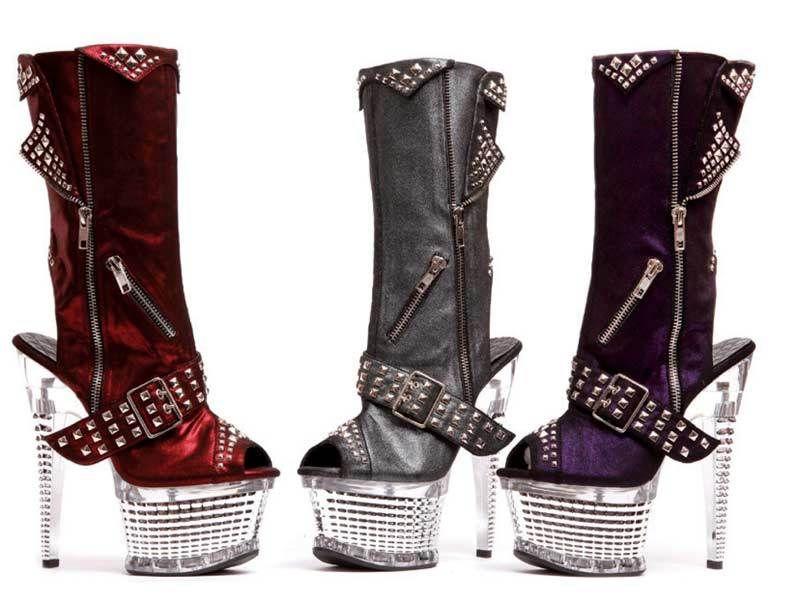 ff62ebe17739 xX Super Bad Xx 6 inch platform peep toe peep heel bad girl boots ...