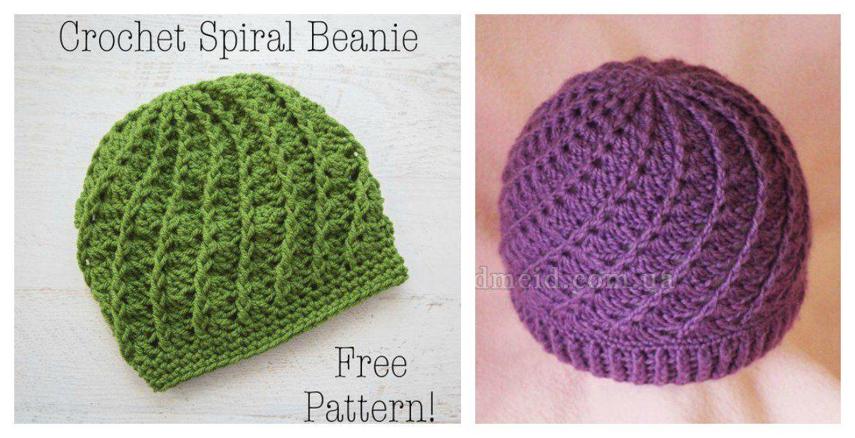 Slouchy Spiral Hat Free Crochet Pattern | Cosas lindas y Cosas