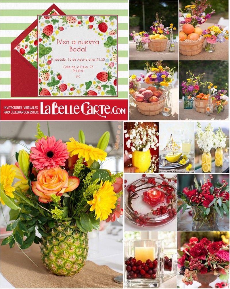 Invitaciones de boda invitaciones para boda centros de for Secar frutas para decoracion