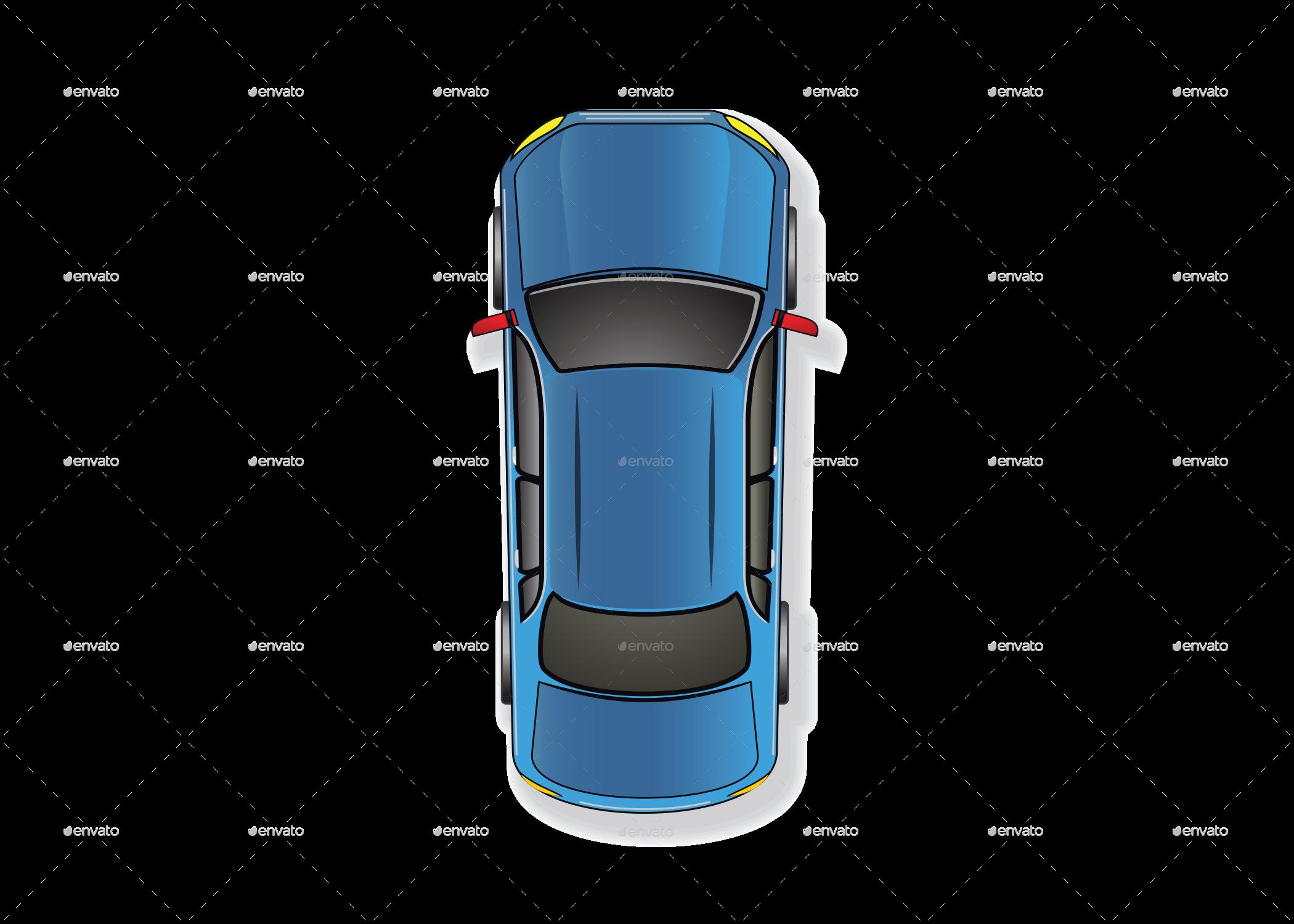 Car Top View Vector Car Top View Top View Top Cars