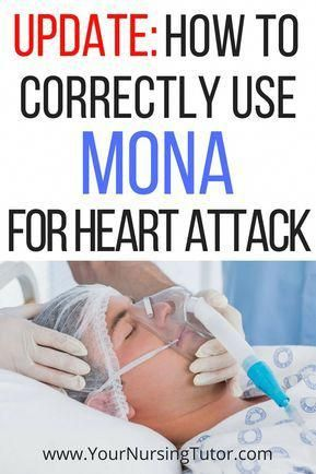 How nursing students should use the MONA acronym (Morphine, Oxygen, Nitroglycerin, Aspirin) for treating myocardial infarction (MI), aka Heart Attack. #CoffeeExtractForWeightLoss #nursingstudents
