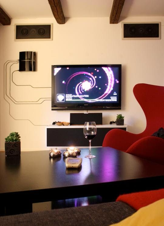 when you can t hide power cables embrace them in 2019 mancave rh pinterest com in wall tv wire