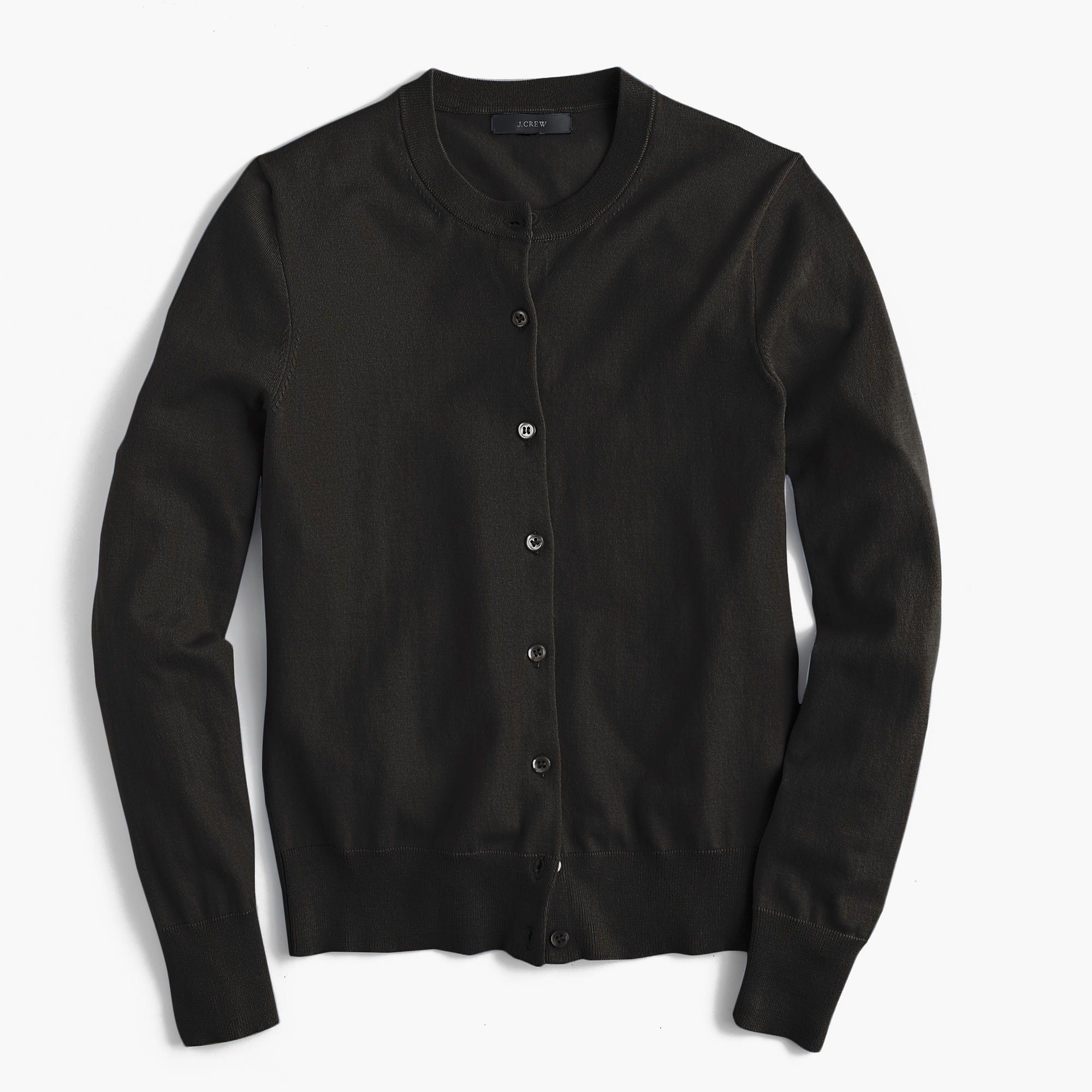 Cotton Jackie cardigan sweater : Cardigans & Shells | J.Crew ...
