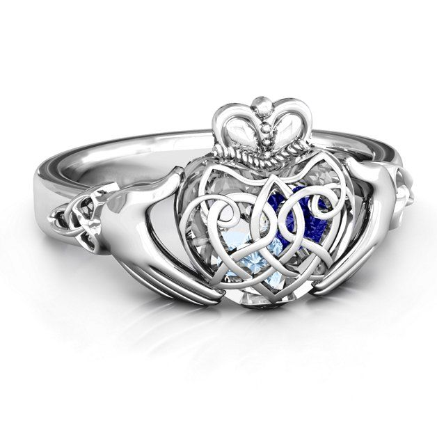 Caged Hearts Celtic Claddagh Ring In 2018 Engagement Rings