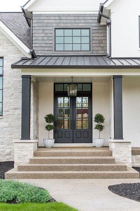22 Stunning Black Front Door Inspirations by thetarnishedjewelblog.com