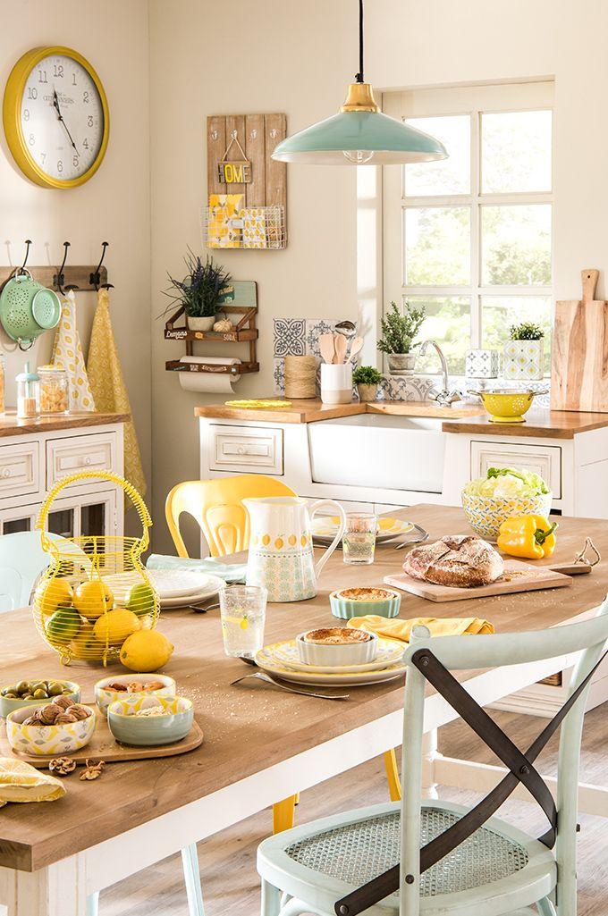 Deko Trend Mint And Lemon Die Zitronenkuche Maisons Du Monde Kuchendekoration Kuche Einrichten Kuchen Inspiration