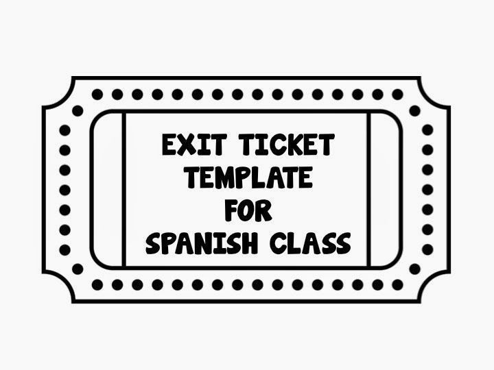 Exit Tickets in Spanish Class {Teaching Strategies} SPANISH - blank ticket