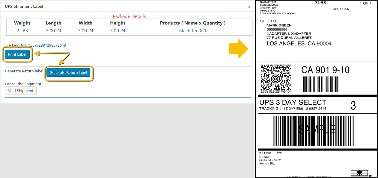 Official UPS Shipping Label   PluginHive - The Best
