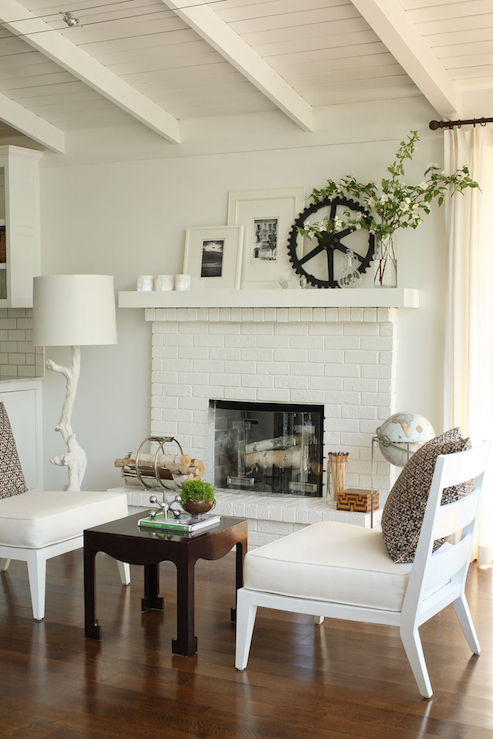 Decorating A Mantle White Branches Mantles And Brick Fireplaces