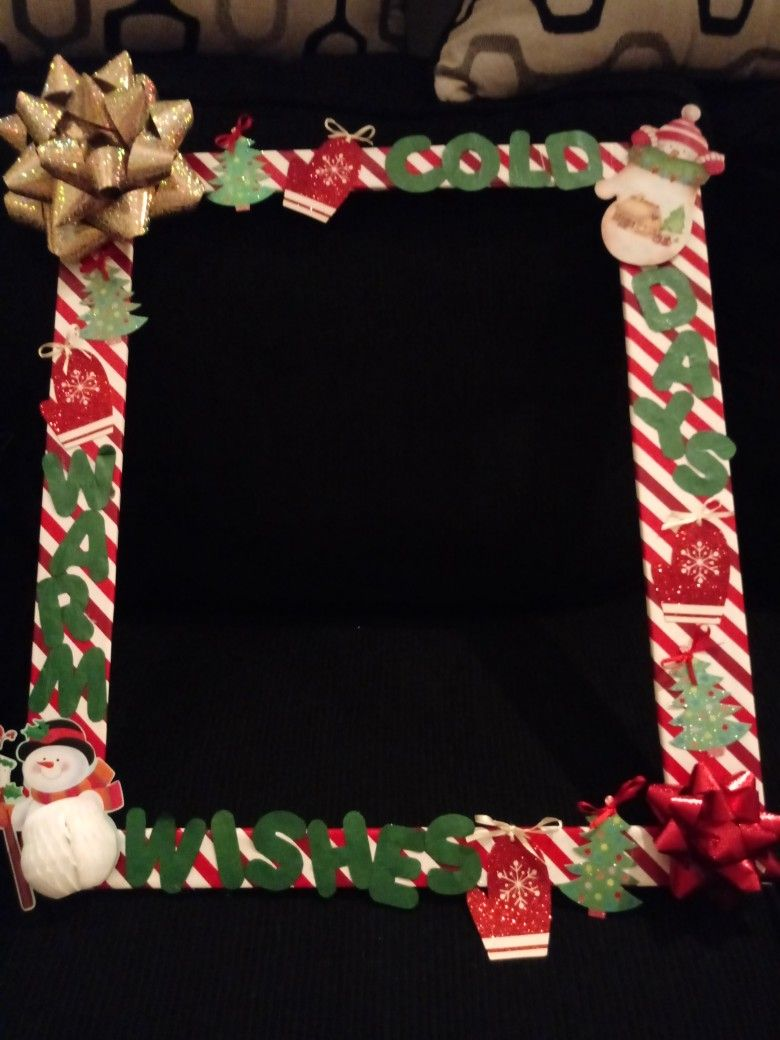 Christmas Picture Frame Photo Booth Frames Diy Pinterest