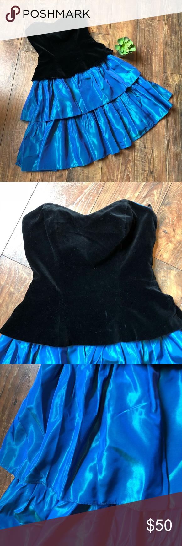 Vintage us prom dress with sweetheart neckline my posh closet