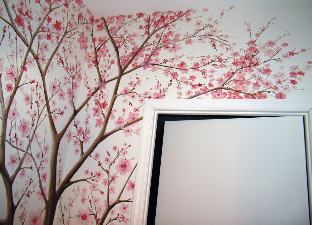 Blossom Tree Extra Large Wall Decal Japanese Cherry Blossom: Cherry Blossom Tree Mural - Google Search