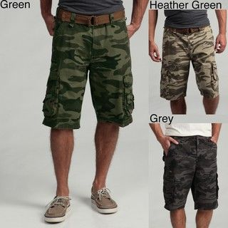 3a08daf1c9 Burnside Men's Camo Ripstop Cargo Shorts | Overstock.com | Guy Style ...