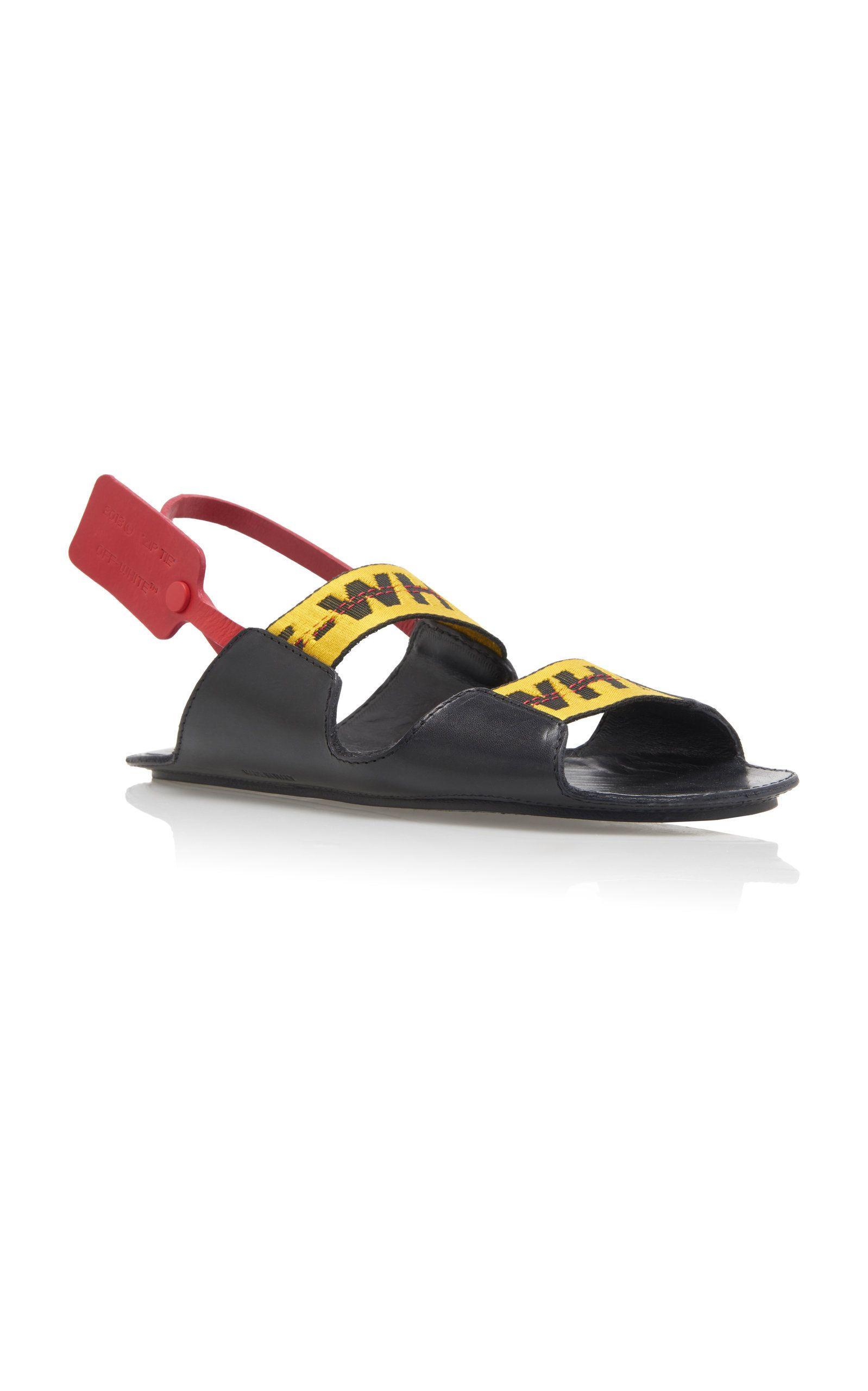 1d9f517c9c3d Off-White C/O Virgil Abloh - Zip Tie Leather Sandal   eccentric ...