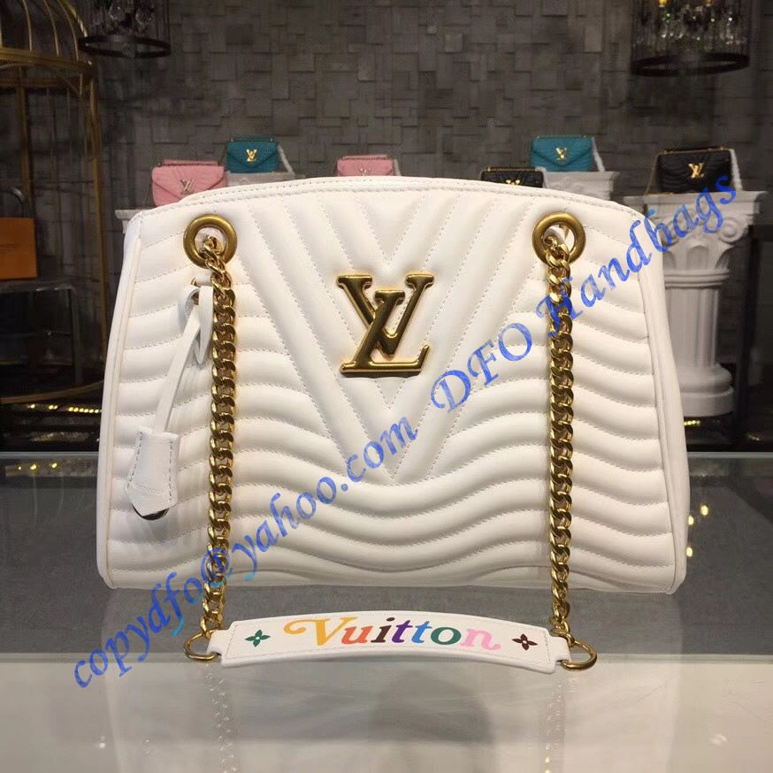 5c938552f7 Louis Vuitton New Wave Chain Tote White M51978 in 2019 | LuxTime DFO ...