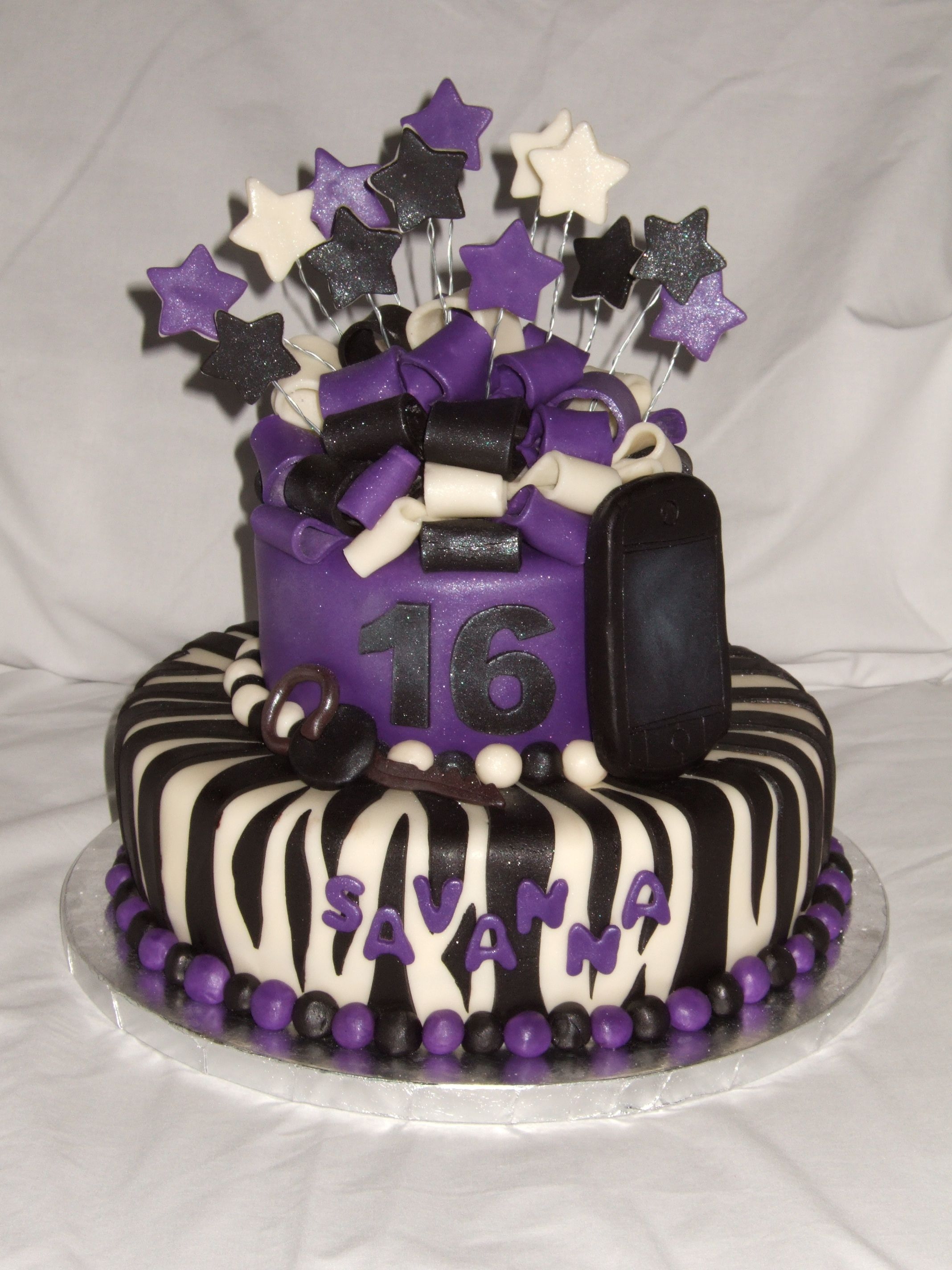 teen girl birthday cakes teen girls love the zebra themes another