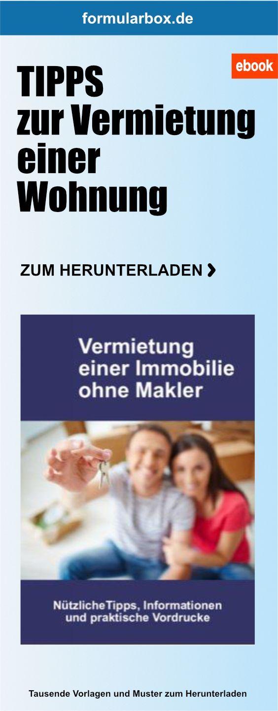 Vermietung Einer Immobilie Ohne Makler Ebook Mit Bildern Vermietung Immobilien Vermietung Immobilien