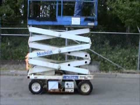 sold marklift m15ep electric 15 ft scissor lift manual extension rh pinterest com