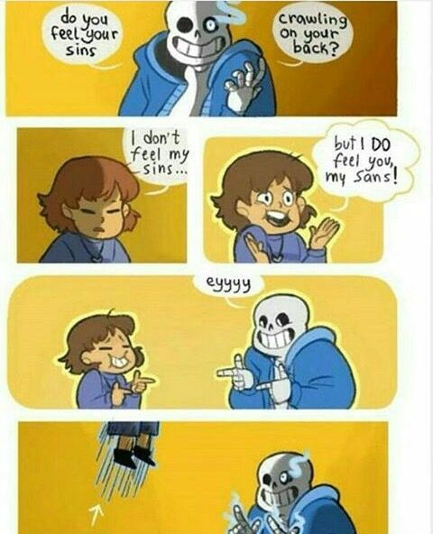 Frisk, sans, undertale, comic, funny - I got this from