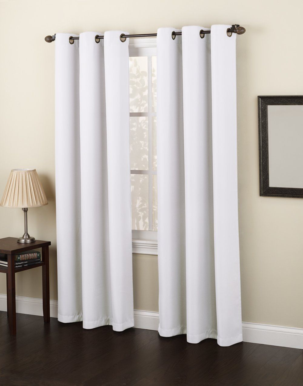 918 Casual Montego Woven Grommet Top Curtain Panel 48 In W X 84