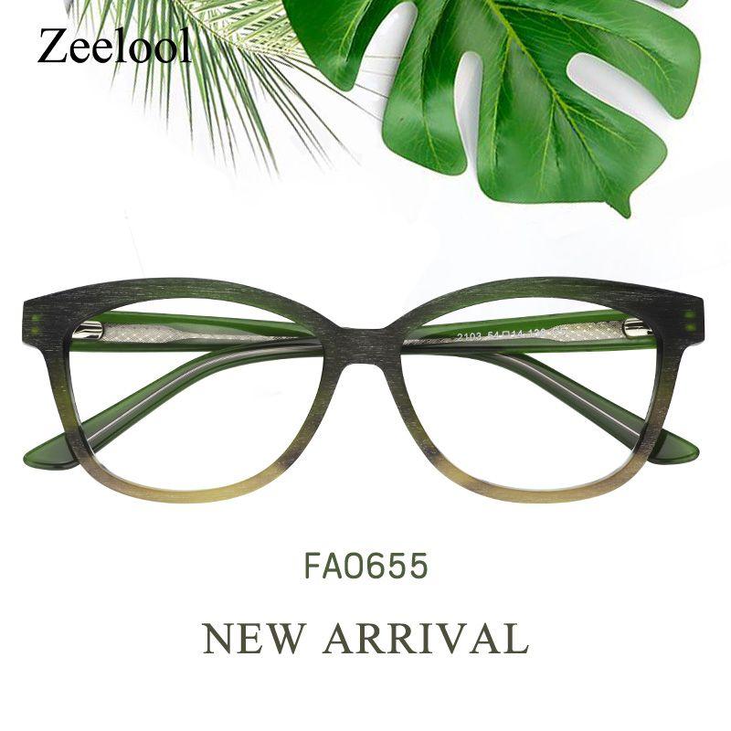 2876a708d5 Enid Cat Eye Green Glasses FA0655-02