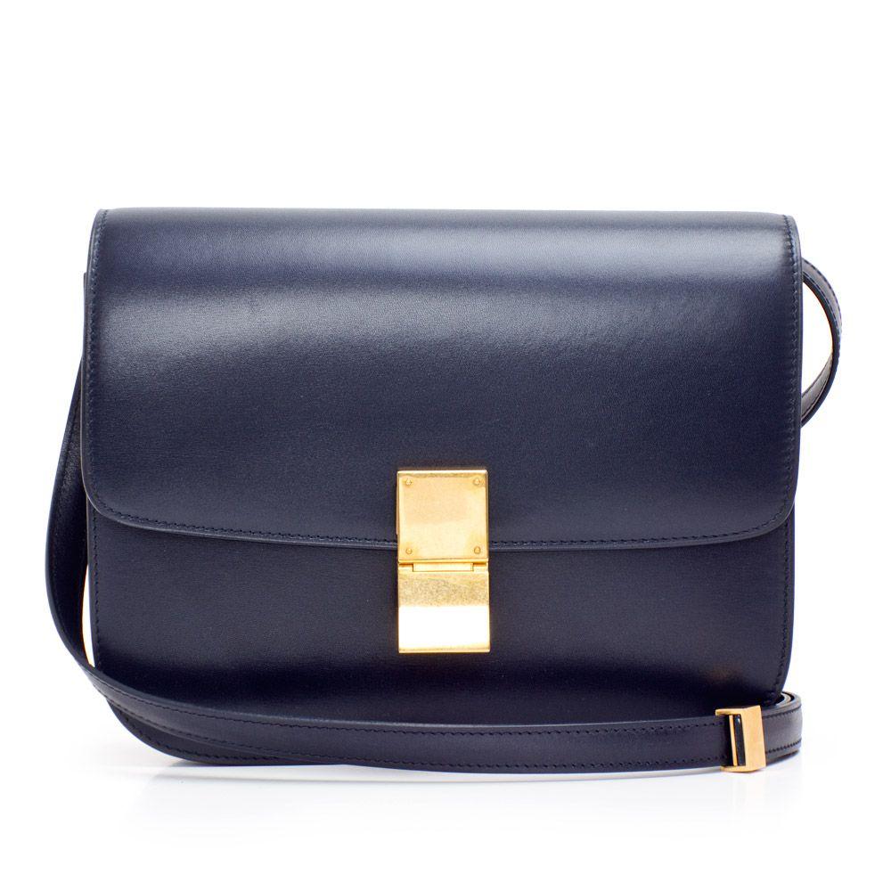 Celine box bag in navy  7d8543f9a8f35
