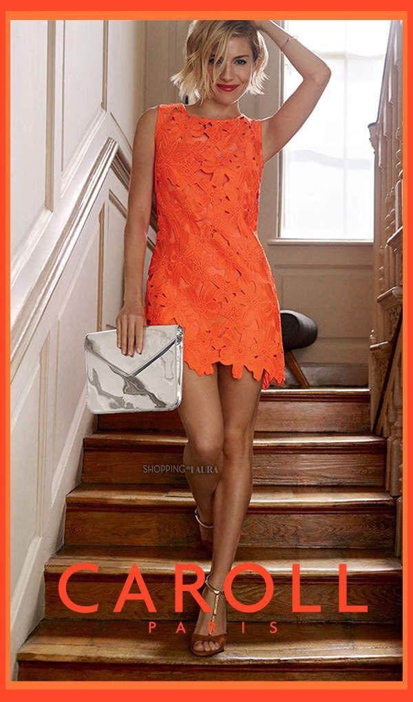 Robe colorée CAROLL pour un plein de tonus, de lumière et de la légèreté.
