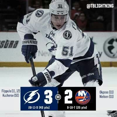 We win in a  shootout. Filppula scores 2 goals and 1 of the goals in the shootout  12/17/2013