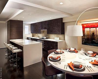 10 Cocinas Abiertas Con Barra Cocinas abiertas, Cocinas y Fotos de - cocinas con barra