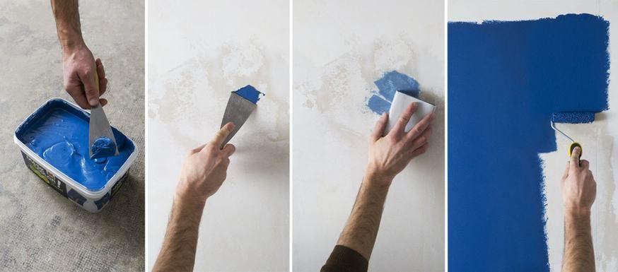 Une Peinture 3 En 1 Pour Reboucher Les Trous Recouvrir Et Embellir Les Murs Enduit De Rebouchage Recouvrir Pour Peindre