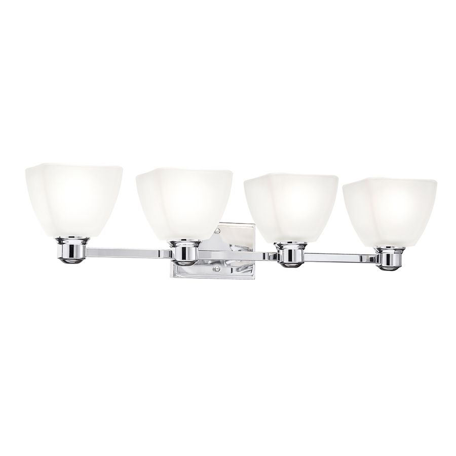 bathroom vanity lights chrome finish. Kichler Lighting Bryant Chrome Standard Bathroom Vanity Light finish  and modern lines will complement many styles Includes beautiful re 4 Square