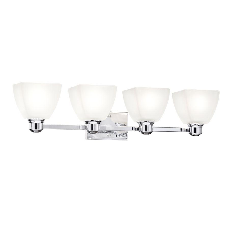 Shop Kichler Lighting 4-Light Bryant Chrome Bathroom Vanity Light at ...