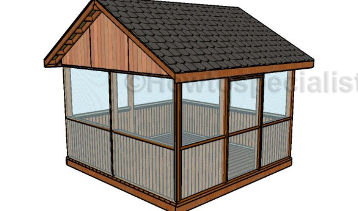 Screened Gazebo Plans Howtospecialist How To Build Step By Step Diy Plans Wooden Gazebo Plans Screened Gazebo Gazebo Plans