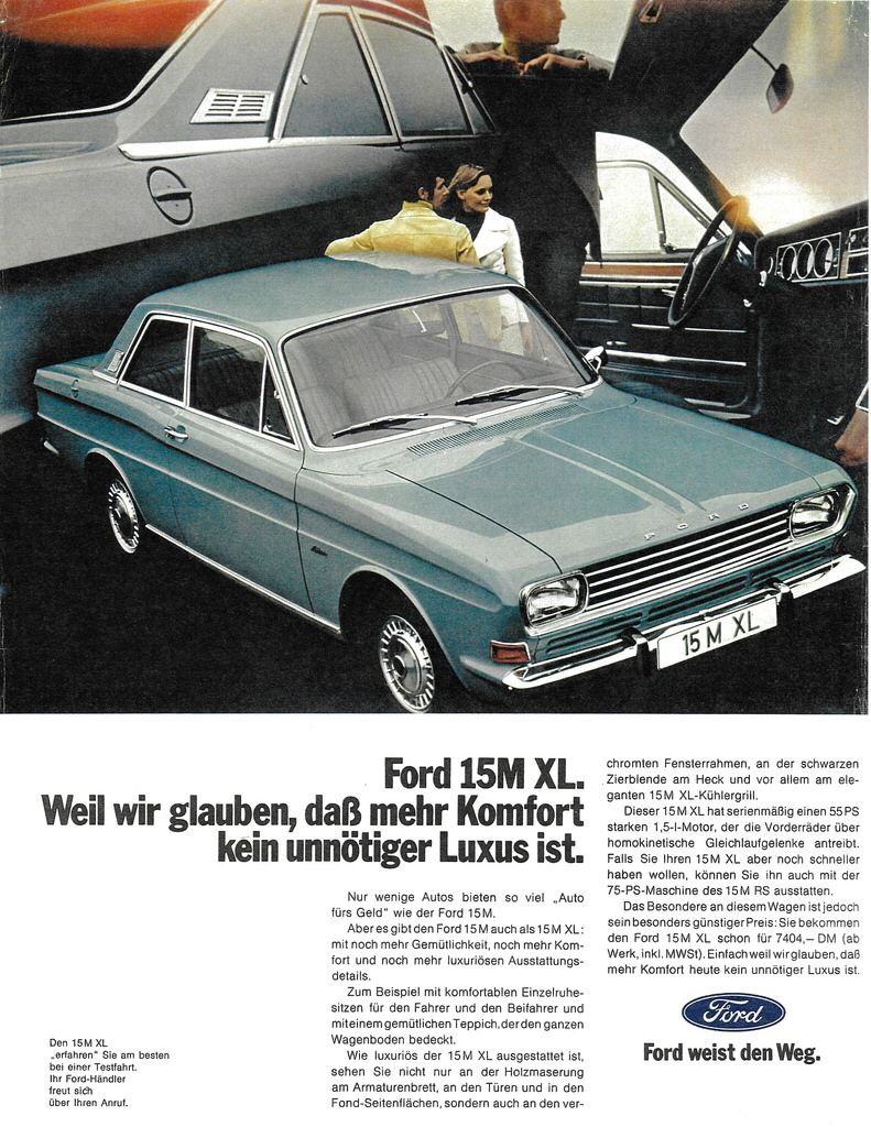 1970 Ford 15m Xl Germany Ford Germany Automobile
