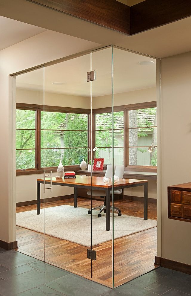 office glass door design. Home Office Encased On Glass Walls With The Appearance Of A Cube-like Structure That Extends Beyond Where It Normally Should. Door Design