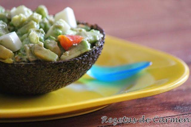 Aguacates rellenos del blog Rezetas de Carmen Cocineros del Mundo: Recetas del Reto de Junio, un reto muy verde... Pepinos o Aguacates