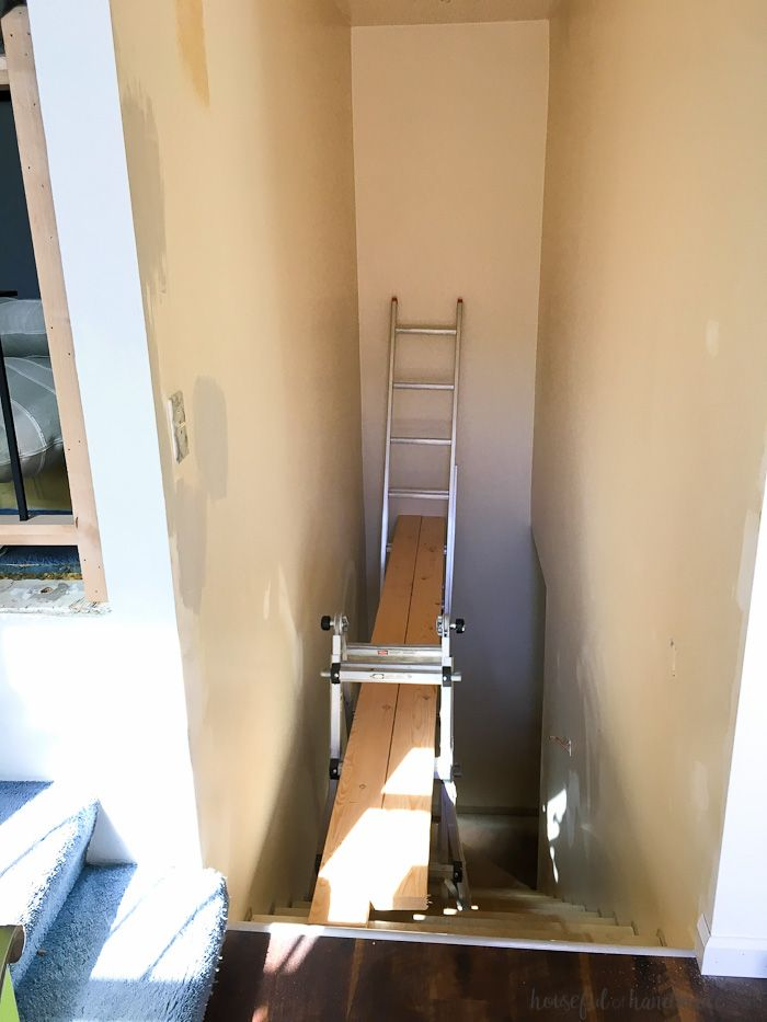 How To Paint Tall Walls Stairway Decorating Painted Staircases Basement Remodeling