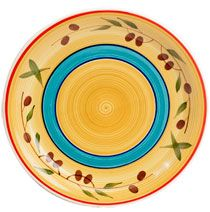 Bulk Royal Norfolk Tuscan Olive Stoneware Dinner Plates